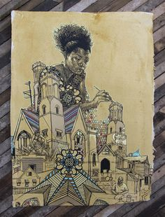 Swoon 'Nee Nee In Braddock' HPM PrintAvailable - PostersandPrints - An Urban Street Art Blog - A Blog About Limited Edition Screen Prints A...
