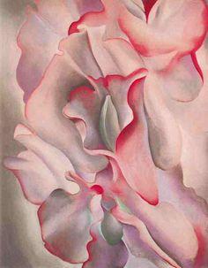 Pink Sweet Peas 2 by @georgia_okeeffe #precisionism