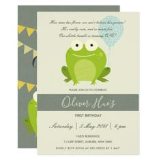 One cute princess 1st birthday personalized baby bodysuit girl cute elegant green blue frog kid birthday invite invitations custom unique diy personalize occasions negle Choice Image