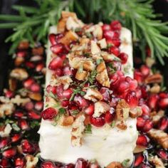 Pomegranate Pecan Party Appetizer ~ 5 Ingredients and just 5 minutes to make! Pe… Pomegranate Pecan Party Appetizer ~ 5 Ingredients and just 5 minutes to make! Perfect for Thanksgiving, Christmas, and holiday dinners and celebrations! Holiday Appetizers Christmas Parties, Holiday Dinner, Appetizers For Party, Christmas Recipes, Christmas Catering, Christmas Dinners, Holiday Decorations, Turkey Gravy From Drippings, Thanksgiving Dinner Recipes