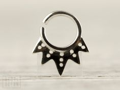 Septum Ring Nose Ring Body Jewelry Sterling Silver Bohemian Fashion Indian Style 14g 16g - SE021R SS