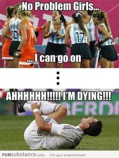 Frauen. Männer. Feldhockey. Fußball. Nothing left to say.