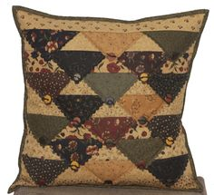 Plum Perfect Pillow by Kansas Troubles Quilters
