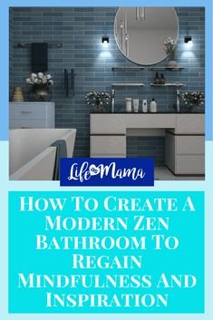 How To Create A Modern Zen Bathroom To Regain Mindfulness And Inspiration Zen Bathroom, Bathroom Interior, Master Bathroom, Bathroom Ideas, Bathrooms, Farmhouse Homes, Farmhouse Decor, Farmhouse Side Table, Cute Dorm Rooms