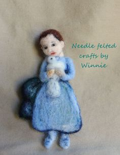 Needle felted magnet Picasso's Child with a by FunFeltByWinnie