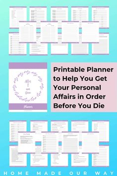How to Organize Your Personal Affairs: Put a Plan in Place Before You Die - Get the After I Am Gone Planner and take care your affairs before you die. This planner will walk you through and help you get things in order in the event you pass. The Plan, How To Plan, Power Walking, Life Binder, Life Planner, Funeral Planning Checklist, Retirement Planning, Event Planning, Personal Affairs