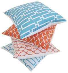 Indoor/Outdoor Decorative Designer Pillow Covers by Nena Von contemporary pillows