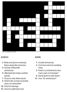 Diy Programs With Crossword Puzzle Page Includes Link To