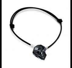 METAL: STERLING SILVER (AG 925), NICKEL FREE, RHODIUM PLATED  GEM: SWAROVSKI ELEMENTS (SKULL 13 MM)  STERLING SILVER WEIGHT: ~0,3 G  LENGTH: ~16-24 CM  PRODUCTION: EUROPE