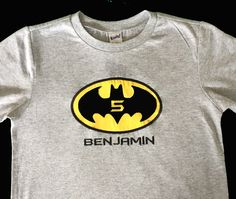 Personalized BATMAN Birthday Shirt - Any Age by Sprinkles of Love by SprinklesOfLove on Etsy https://www.etsy.com/listing/222723791/personalized-batman-birthday-shirt-any
