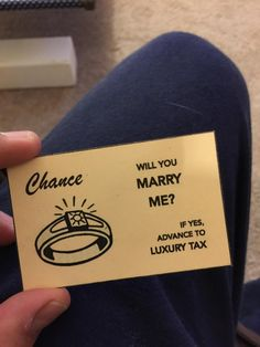 He took a chance, passed go, and paid the ultimate luxury tax for love.