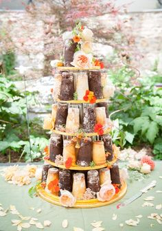 Naked cake by Lindy of Posh Cakes Tavistock Devon. Location Inspiration & Ideas - Ever After A Dartmoor Wedding. Photography: Kate Fierek