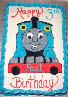 Take a look at the coolest Thomas the Train cake photos. You'll also find loads of homemade cake ideas and DIY birthday cake inspiration. Thomas Birthday Cakes, Toddler Birthday Cakes, Thomas Birthday Parties, Thomas Cakes, Thomas The Train Birthday Party, Diy Birthday Cake, Trains Birthday Party, Train Party, Birthday Ideas