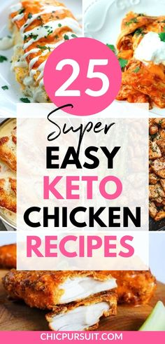25 Easy Keto Chicken Recipes Perfect For Beginners Easy Chicken Dinner Recipes, Low Carb Dinner Recipes, Healthy Chicken Recipes, Keto Dinner, Keto Recipes, Breakfast Recipes, Cooking Recipes, Turkey Recipes, Icing Recipes