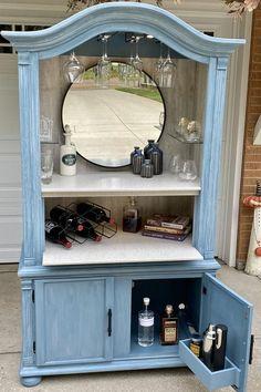 Refurbished Furniture, Repurposed Furniture, Repurposed Items, Distressed Furniture, Armoire Makeover, Furniture Makeover, Furniture Projects, Diy Furniture, Unique Furniture