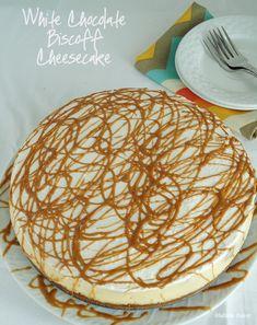 White Chocolate Biscoff Cheesecake Biscoff Cheesecake, Biscoff Cookie Butter, Biscoff Cookies, Cheesecake Recipes, Dessert Recipes, Sweet Desserts, Cheesecakes, Biscoff Recipes, Cadbury Dairy Milk Chocolate