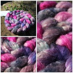 Pink and Grey BFL/ Milchseide