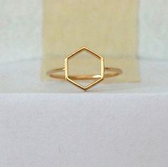 hexagon, unusual, simple little ring from Mociun.