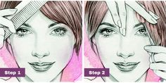 For Side-Swept Bangs How to trim your own