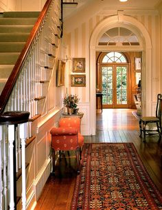 Menzer McClure Architects Love the long hallways and staircase. I miss my old home!!