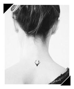 Small Deer Tattoo Ideas For Girls Tiny Tattoos For Girls Tiny Tattoos For Girls, Cute Tiny Tattoos, Large Tattoos, Little Tattoos, Pretty Tattoos, Mini Tattoos, White Tattoos, Tattoo Small, Deer Antler Tattoos