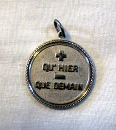 CHARM  FRENCH  qu'hier que demain  mean I love you by MOONCHILD111 https://www.etsy.com/shop/MOONCHILD111