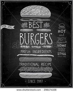 burger chalkboard ideas - Cerca con Google