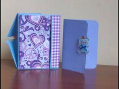 Cardstock Mini Album - fast to make, cute little gift! - YouTube
