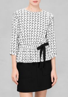 & Other Stories | Polka Dot Check Blouse