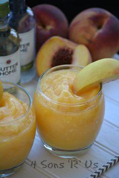 Peach White Wine Slushies