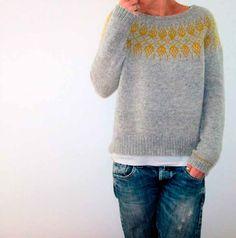 Humulus Knitting pattern by Isabell Kraemer - Pulli Sitricken Sweater Knitting Patterns, Crochet Patterns, Knitting Sweaters, Afghan Patterns, Knitting Yarn, Brooklyn Tweed, Dress Gloves, Yarn Brands, Work Tops