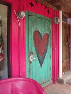pretty heart door in