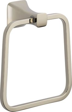 The Tesla™ Towel Ring, shown in Polished Nickel. Part of the new Delta® Tesla Bath Collection, coming to showrooms in August 2015. #DeltaInspiredPro