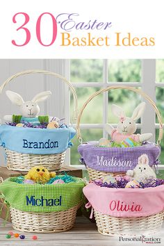 Celebrate Easter with a surprise Easter basket for your children to enjoy! All kids will be thrilled Easter morning to see their name featured on their basket with personalized baskets. These baskets are the perfect accessory for your little ones as they search for painted eggs and chocolate confections this Easter! Find Easter Basket ideas and more at Personalization Mall today.