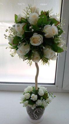 Topophe - New Deko Sites Topiary Centerpieces, Wedding Centerpieces, Wedding Decorations, Christmas Arrangements, Floral Arrangements, Valentine Decorations, Flower Decorations, Giant Paper Flowers, Flower Ball