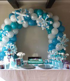 Resultado de imagen de decoraciones para cumpleaños de frozen con globos