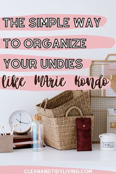 We all want that movie-style level of organisation in our wardrobes and drawers, but it often seems unrealistic in everyday life. To help out, we want to tell you about Marie Kondo and her folding underwear tips, and all the benefits of keeping a uniformly organised underwear drawer. Home Organisation Tips, Organization Hacks, How To Organize Your Closet, Organizing Your Home, How To Fold Underwear, Marie Kondo, Homemaking, Declutter, Simple Way