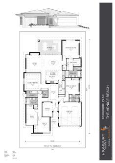 Beach House Plans, New House Plans, Dream House Plans, House Floor Plans, House Layout Plans, House Layouts, Building Plans, Building A House, Floor Plan 4 Bedroom