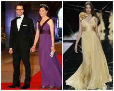 Crown princess Victoria of Sweden in Elie Saab at the Dutch abdication gala dinner.