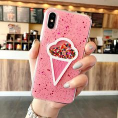 "Universe of goods - Buy Dynamic Pink Ice Cream Phone Case for Iphone 6 Case 6 Plus Lovely Liquid Quicksand Phone Cover For IPhone 7 X Case 7 8 Plus"" for only USD. Cases Iphone 6, Cute Phone Cases, Iphone 6 S Plus, Glitter Iphone 6 Case, Accessoires Iphone, Coque Iphone 6, Iphone Accessories, Apple Products, 6s Plus"