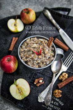 Budinca de chia cu mere si scortisoara