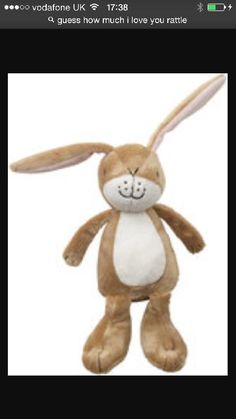 Lost at Chelsea harbour London on 26 Jul. 2016 by Bethan Williams: We lost our daughter's Guess how much I love you rattle on Wednesday night. I Love You, Give It To Me, My Love, All Is Lost, Lost & Found, Hare, Pet Toys, Bunny, Teddy Bear