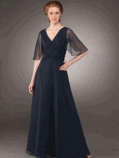 simple, elegant, flowy mob dress