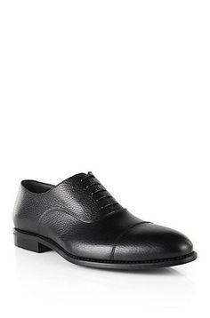 Schnürschuhe aus Leder: 'Stalm', Schwarz
