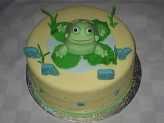 Baby shower frog cake | frog babyshower this was a baby shower cake the frog and details are ...