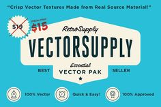 VectorSupply - Vector Textures Graphics Introducing VectorSupply, vector textures so crisp you'll want to touch them.This kit provides you by RetroSupply Co.