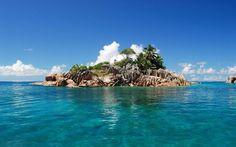 Een onbewoond eiland waar Hal en zijn vrienden verblijven.