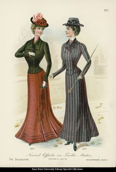 Tailored dresses, 1900, The Delineator