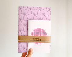 Notebook-set, Ananas-Journal und Polka Dot Jotter, Rosa Notizblock-Geschenkset, Graduierung Geschenk on Etsy, 13,58€