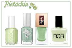pistachio nails @ref